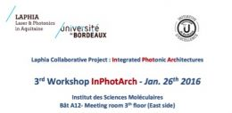3ème workshop_Projet collaboratif INPHOTARCH_26 janvier 2016